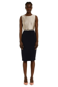 Fiorito belted sheath dress, Mini dresses Max Mara Studio woman