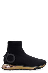 Gardena knitted sock-style sneakers, High Top sneakers Salvatore Ferragamo woman