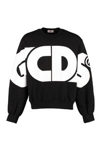 Cotton crew-neck sweatshirt, Sweatshirts GCDS man