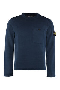 Long-sleeved crew-neck sweater, Crew necks sweaters Stone Island man