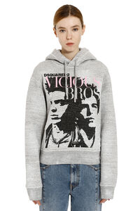 Printed cotton hoodie, Hoodies Dsquared2 woman