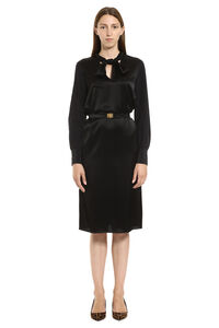 Belted satin dress, Knee Lenght Dresses Tory Burch woman