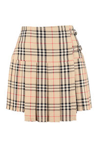 Pleated mini skirt, Pleated skirts Burberry woman
