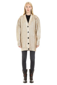 Cotton tricot knit cardigan, Cardigan MSGM woman