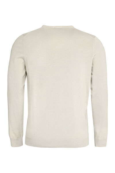 Long-sleeved cotton sweater