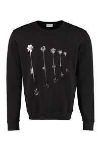 Printed cotton sweatshirt, Sweatshirts Saint Laurent man
