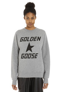 Higanbana logo print cotton sweatshirt, Sweatshirts Golden Goose woman