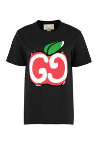 GG apple print T-shirt, T-shirts Gucci woman