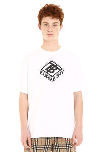 Printed cotton t-shirt, Short sleeve t-shirts Burberry man