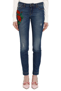 Floral embroidery jeans, Skinny Leg Jeans Dolce & Gabbana woman
