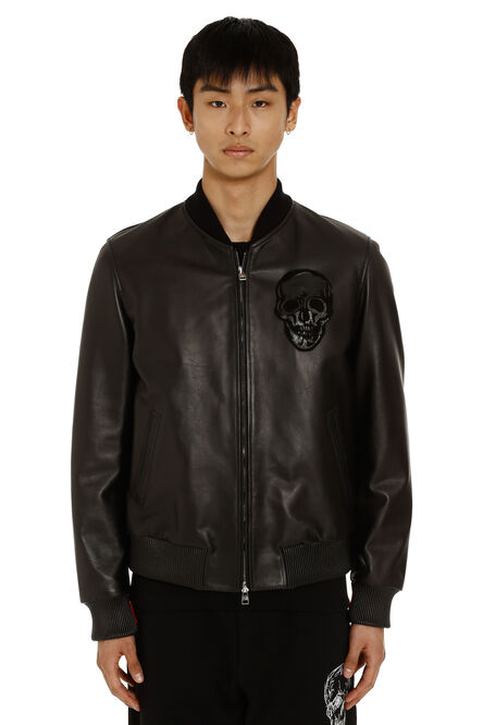 Leather bomber jacket, Leather jackets Alexander McQueen man