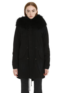Jazzy parka with fur trimming, Down Jackets Mr & Mrs Italy woman