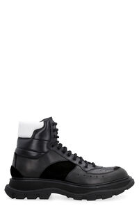 Leather combat boots, Lace-up boots Alexander McQueen man