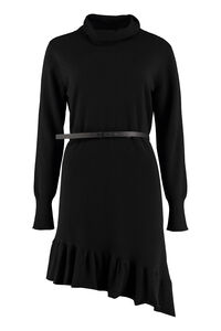 Belted knit dress, Knee Lenght Dresses Fabiana Filippi woman