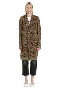 Leopard print cotton swing coat, Knee Lenght Coats R13 woman
