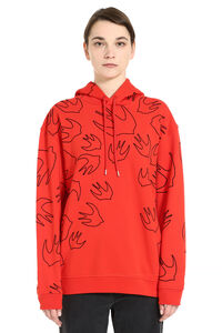 Swallow print cotton hoodie, Hoodies McQ Alexander McQueen woman