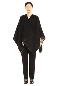 Reversible wool cape coat, Capes Burberry woman