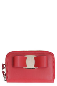 Leather wallet with Vara ribbon, Wallets Salvatore Ferragamo woman