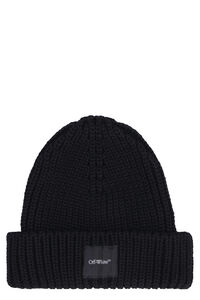Ribbed knit beanie, Hats Off-White man