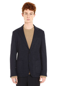 Houndstooth check wool jacket, Single breasted blazers Z Zegna man