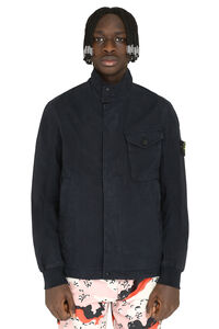 Cotton blend jacket, Raincoats And Windbreaker Stone Island man