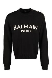 Merinos wool sweater, Crew necks sweaters Balmain man