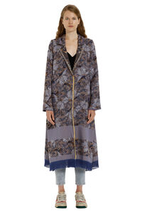 Les Papillons single-breasted long coat, Long Lenght Coats Forte Forte woman