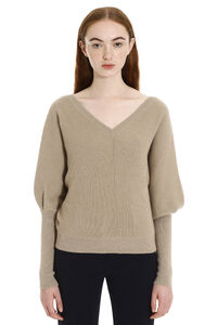 Ribbed cashmere pullover, V neck sweaters Brunello Cucinelli woman