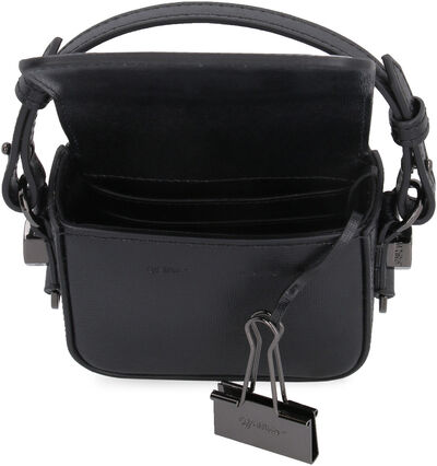 Baby Binder Clip leather crossbody bag