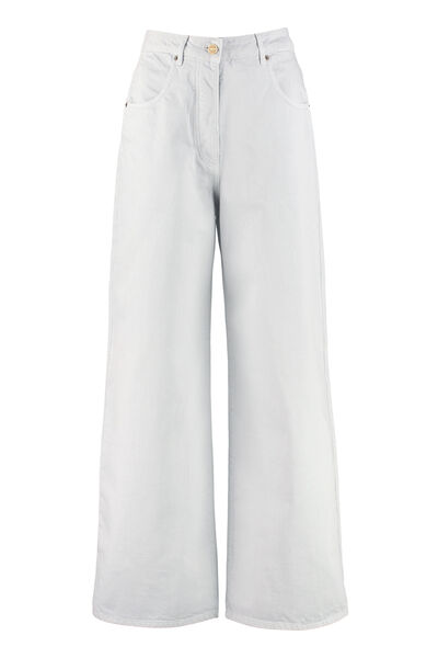 High-rise straight ankle jeans
