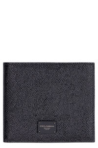 Leather flap-over wallet, Wallets Dolce & Gabbana man