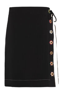 Contrast stitch skirt, Knee Length skirts Tory Burch woman