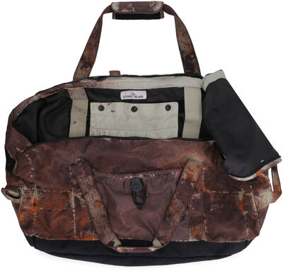 Paintball effect print fabric duffle bag