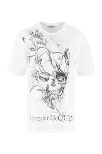 Crew-neck cotton T-shirt, T-shirts Alexander McQueen woman