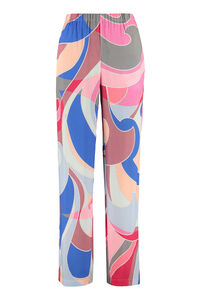 Printed high-rise trousers, Straight Leg pants Emilio Pucci woman