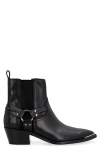Dusty leather ankle boots, Ankle Boots Ash woman