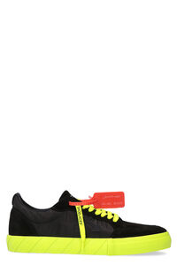 Low Vulcanized leather and fabric low-top sneakers, Low Top Sneakers Off-White man