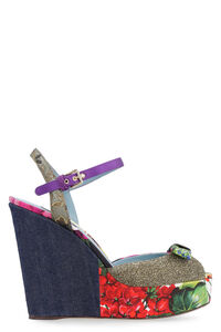 Fabric wedged sandals, Wedges Dolce & Gabbana woman