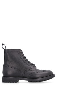Mc Farlane 2 pebbled leather boots with brogues, Lace-up boots Church's man