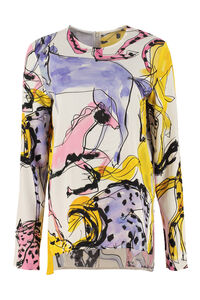 Louisa printed crêpe blouse, Blouses Stella McCartney woman