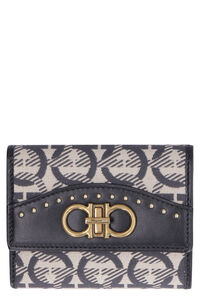 Fabric wallet with printed logo, Wallets Salvatore Ferragamo woman