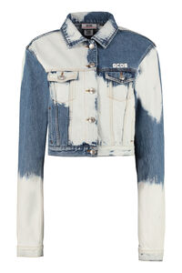 Cropped denim jacket, Denim Jackets GCDS woman