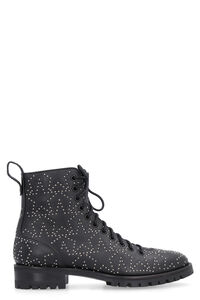 Cruz studded leather combat boots, Ankle Boots Jimmy Choo woman