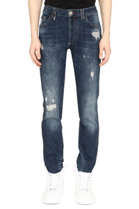 Cut Skull stretch jeans, Straight jeans Philipp Plein man