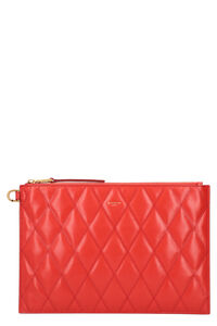 Logo detail flat leather pouch, Pouches Givenchy woman