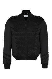 Bomber in raso, Bomber Saint Laurent man