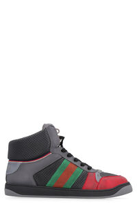 Screener high-top leather sneakers, High Top Sneakers Gucci man