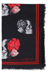 Flowers and skull print scarf, Scarves Alexander McQueen woman