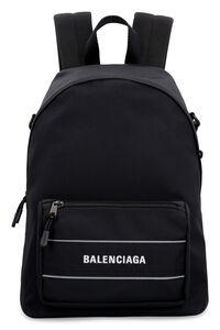 Logo detail nylon backpack, Backpack Balenciaga man