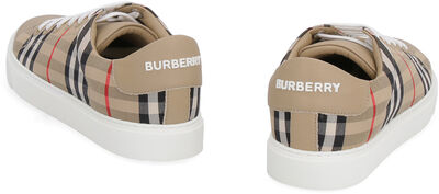 Checked motif sneakers